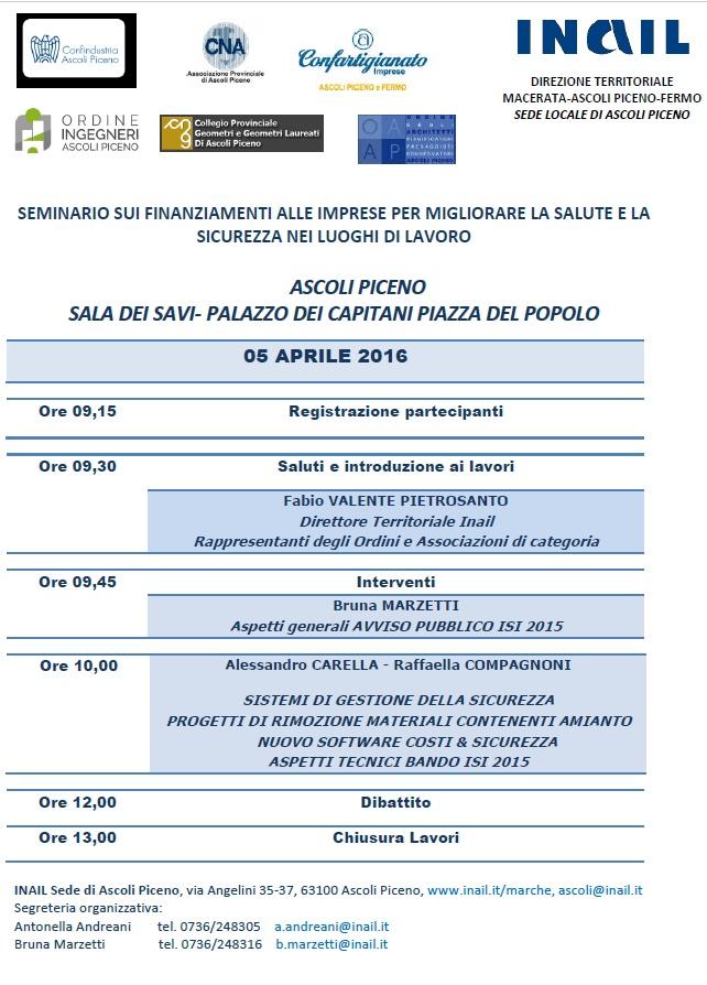 Locandina INAIL 05-04-2016